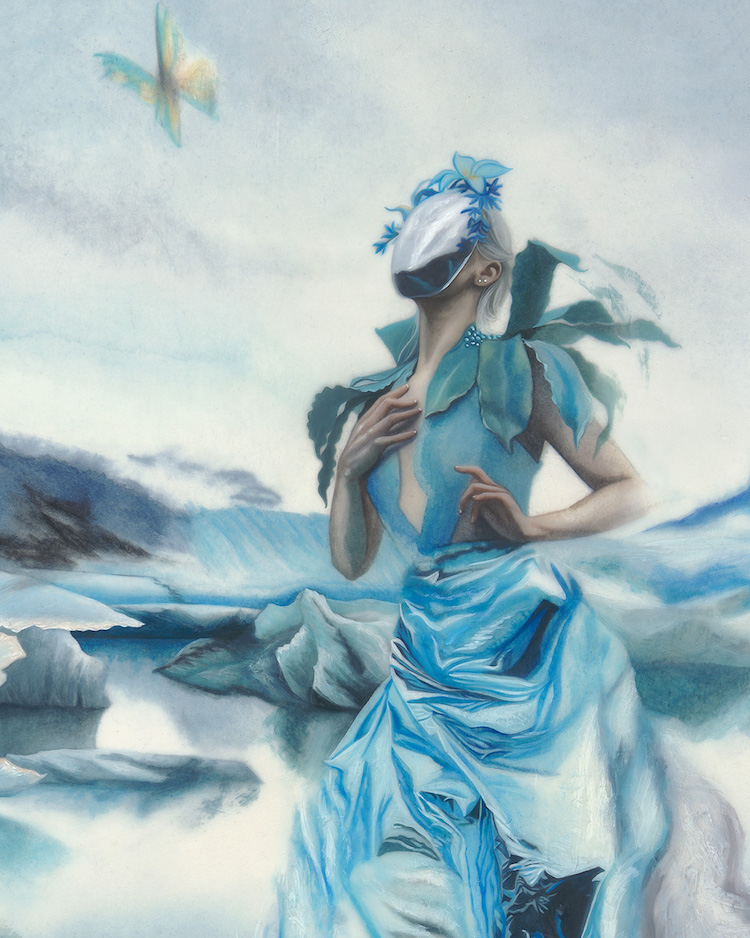 Surreal Portraits and Paintings of Women Address Climate Change