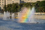 Радуга в фонтане