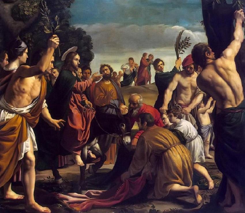 Вход Господень в Иерусалим. Педро Орретнте. 1620.jpg