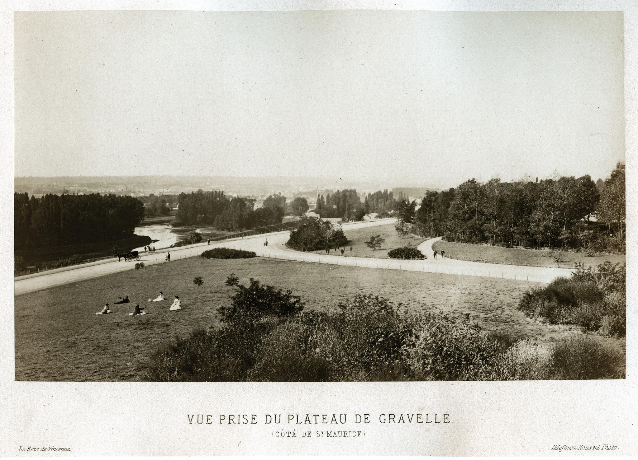 Вид с  возвышенности Гравель на Сен-Морис