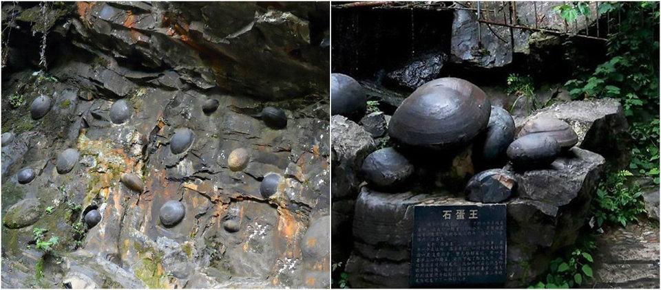 Утёс в Китае каждые 30 лет «несёт» каменные яйца