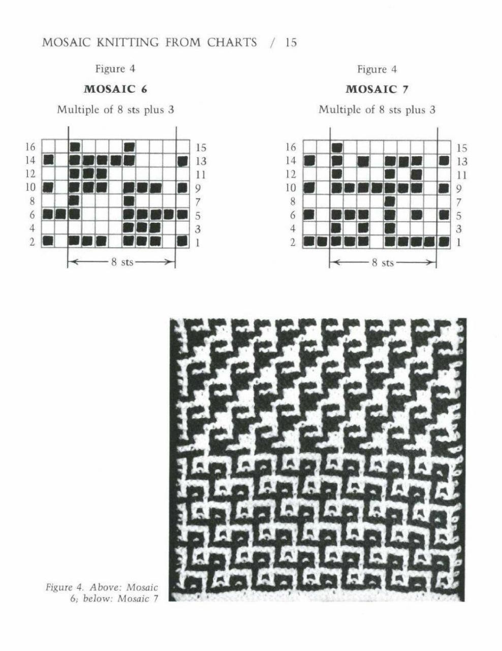 Узоры вязания ленивого жаккарда 29