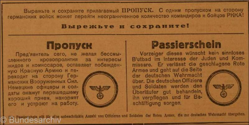 Eine deutsche «Prawda»  - die «Wahrheit»  aus der Hand der Wehrmacht