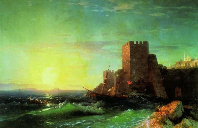 Башни на скале у Босфора 1859 год