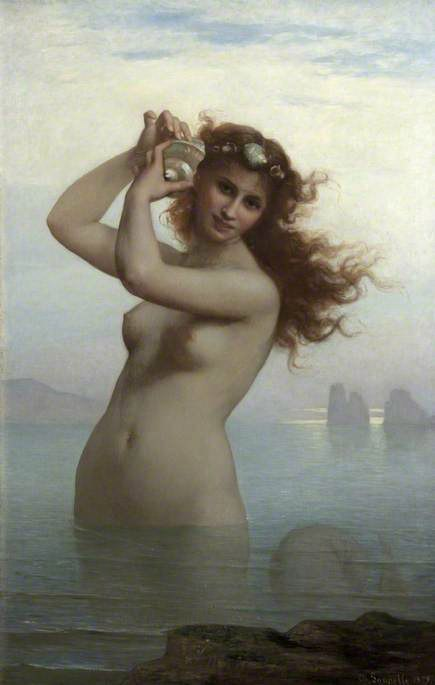 Charles Zacharie Landelle (French, 1812 - 1908) Морская нимфа – Сирена Sea Nymph – The Siren