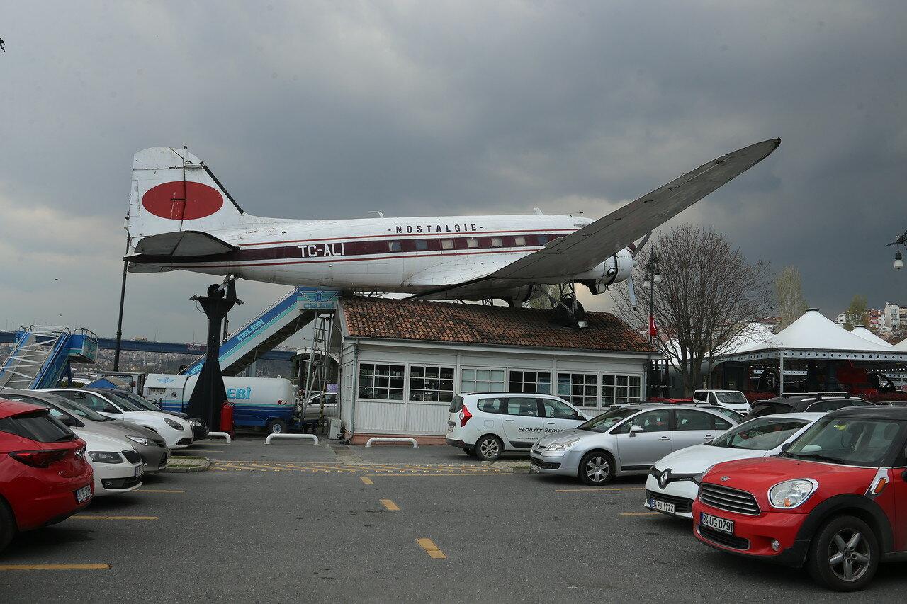 Istanbul.  Rahimi Koç Museum.  Douglas DC-3 'Dakota' passenger aircraft