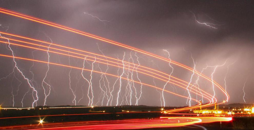 20. Небо и уличные артисты в Лас-Вегасе , штат Невада. (Фото L.E. BASKOW):