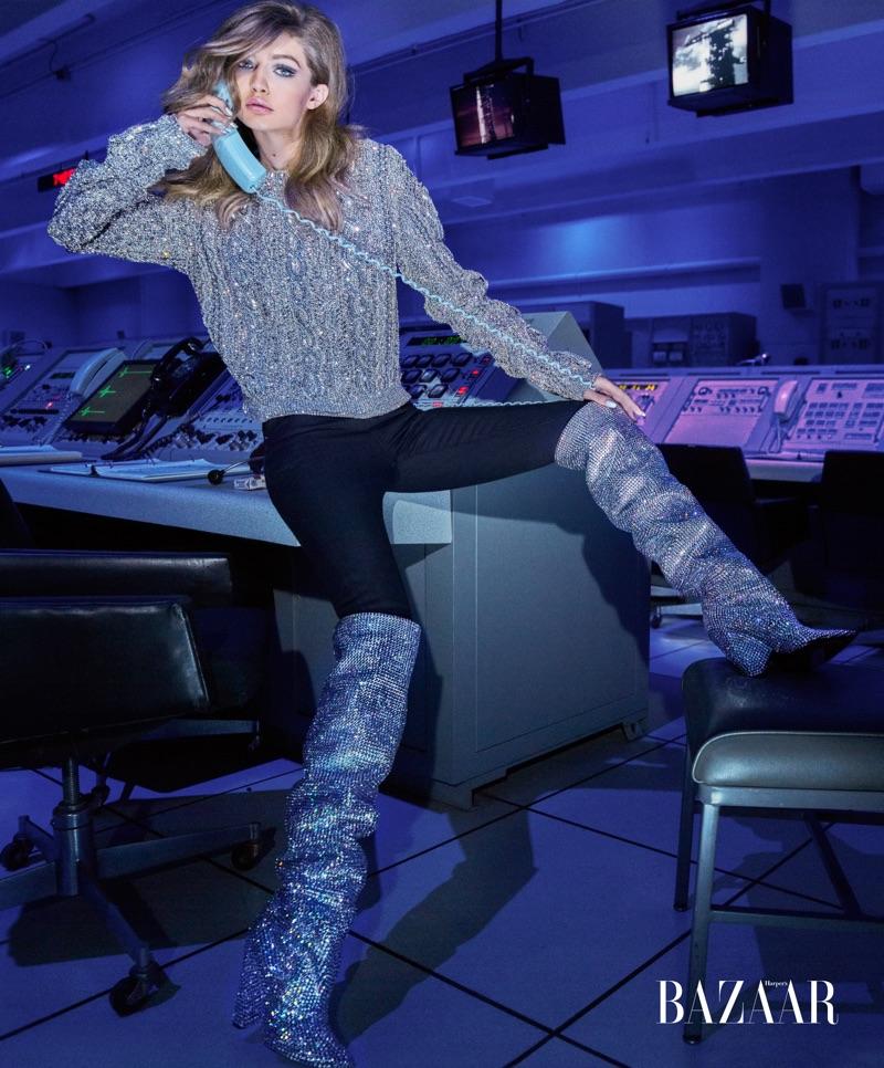 Джиджи Хадид на обложке Harper's Bazaar US (5 фото)