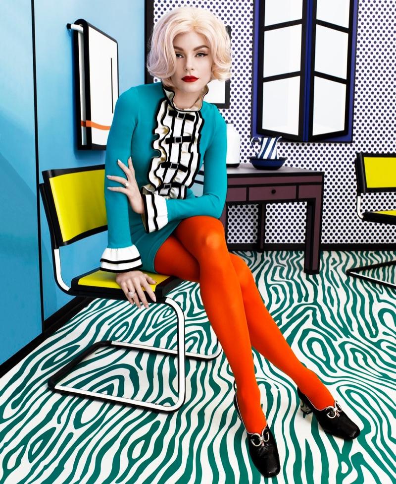Джессика Стэм в Harper's Bazaar US (4 фото)