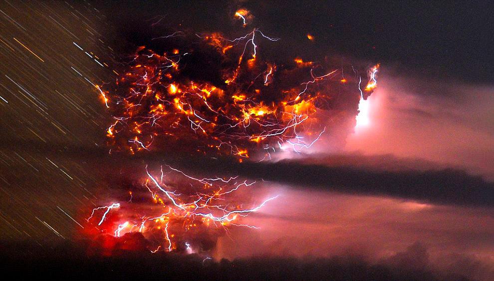 Вулкан Пуйеуэ высотой 2240 метров находится на чилийской стороне Анд.