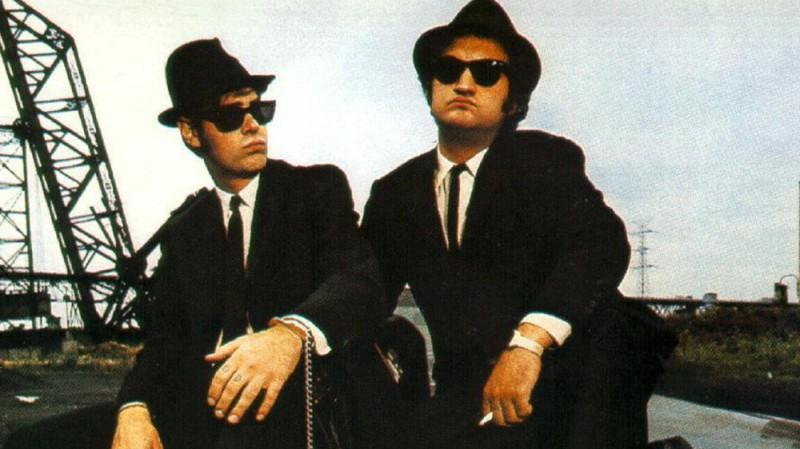 Джон Белуши и Дэн Эйкройд, «Братья Блюз» По слухам, когда съемки фильма проходили в Чикаго, родном г