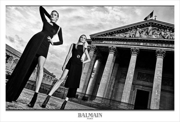 Рекламная кампания женской одежды от Balmain (5 фото)