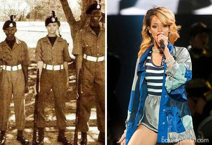 Певица Рианна была кадетом в программе военной подготовки.