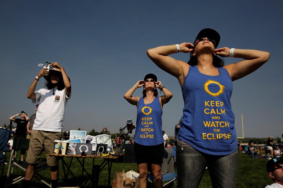 Четвероногий любитель солнечных затмений. (Фото Harrison McClary):