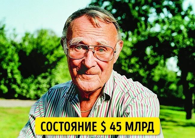 © eastnews     Один изсамых богатых людей вмире, основатель IKEA летает исключител