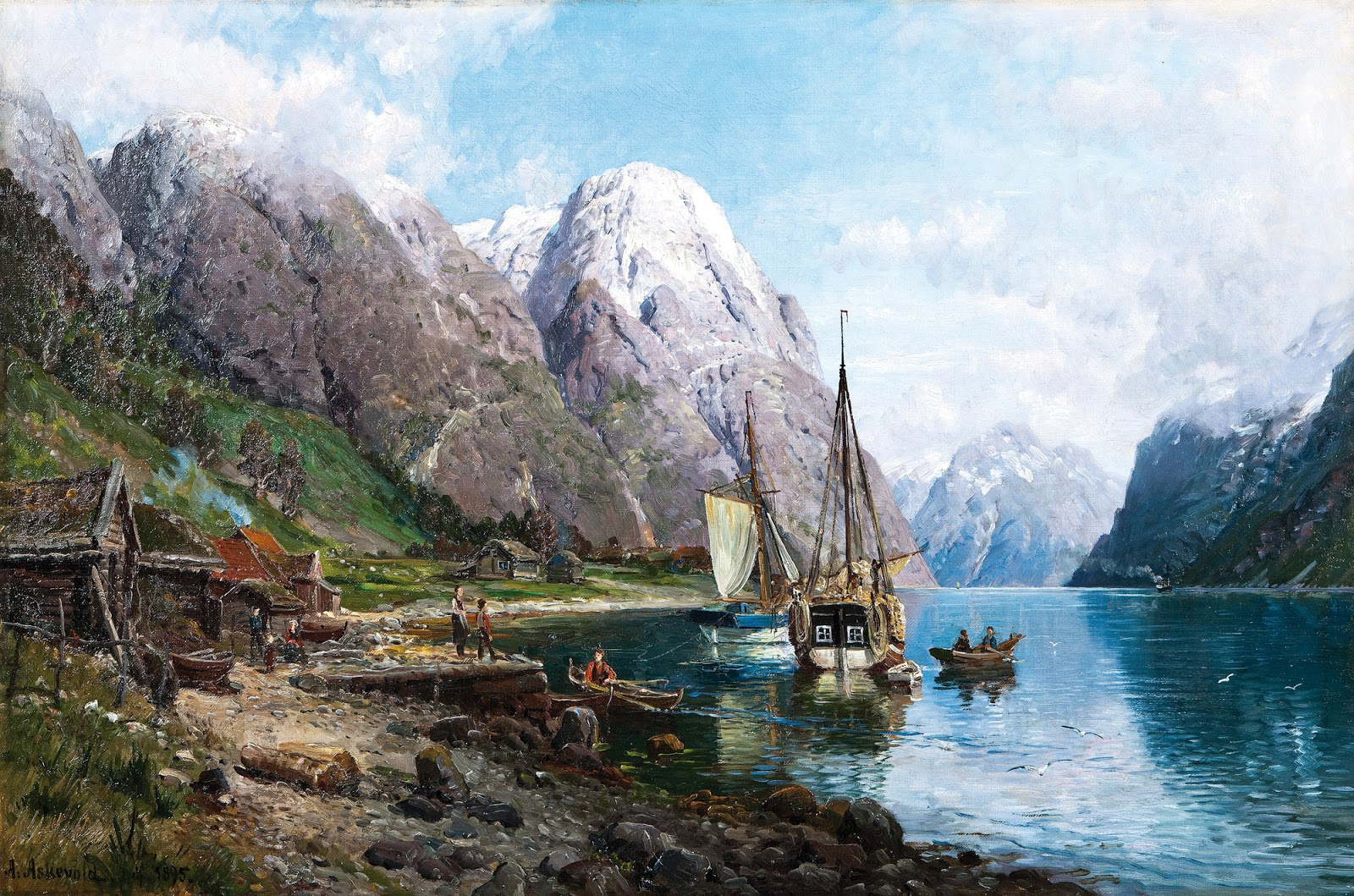3 Anders Monsen Askevold     Harbor in the Sognefjord (also known as From a Harbor in the Sognefjord).jpg