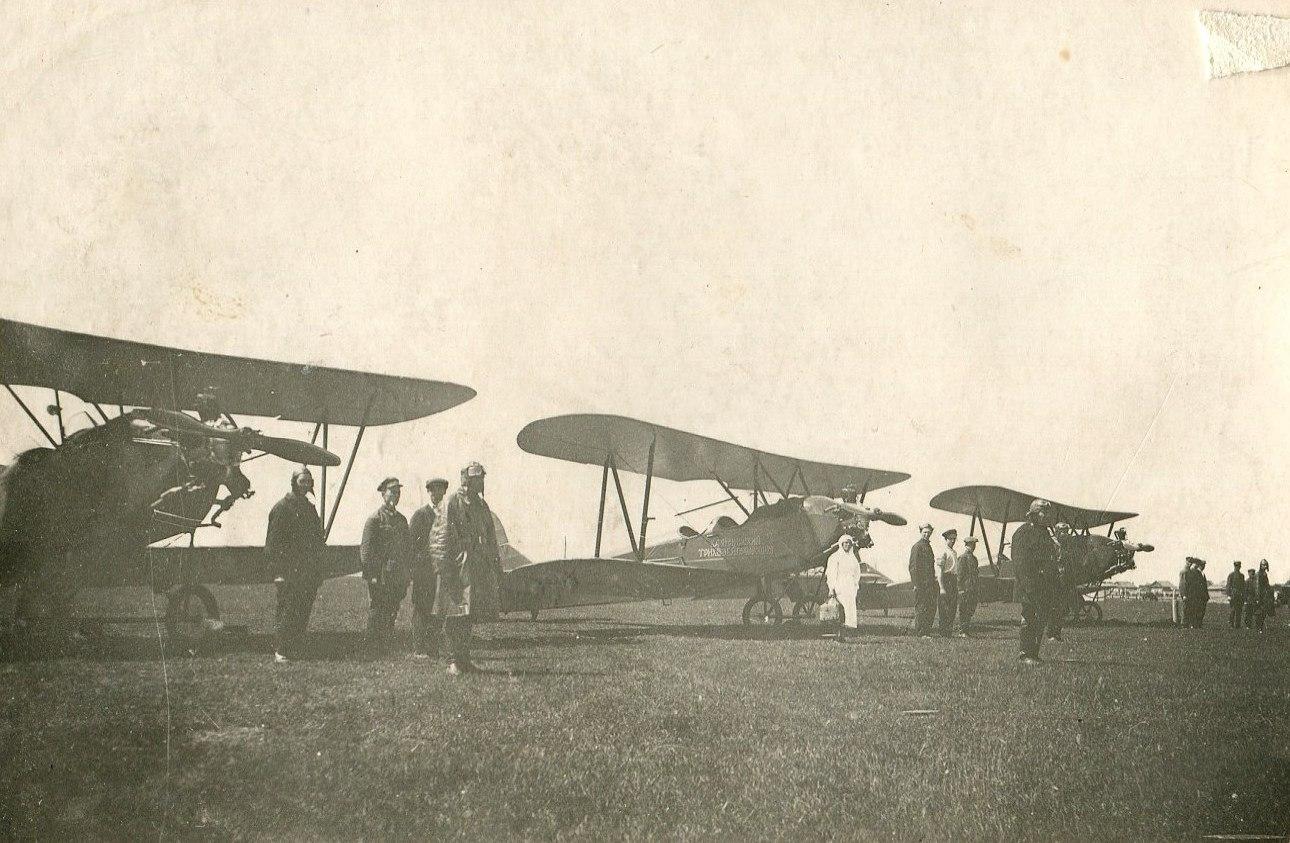 1935. Построение курсантов перед полетом