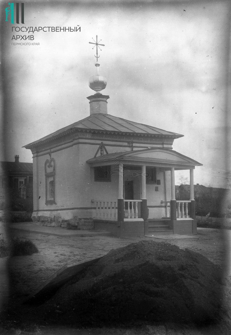 Часовня в селе Ныроб после реставрации в 1914