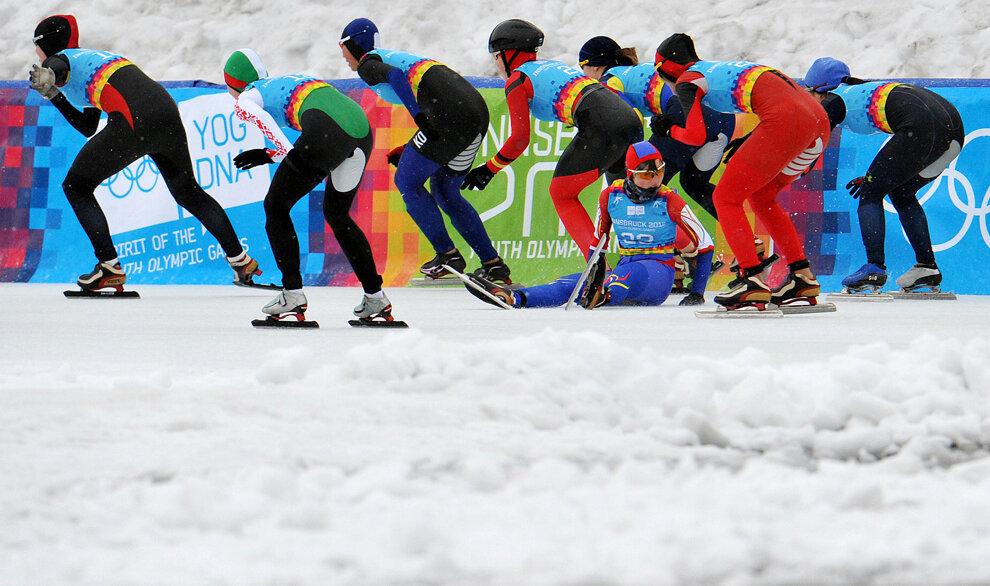Austria Youth Olympics Speed Skating