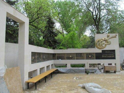 Строительство мемориала памяти творчеству В.Высоцкого в Бельцах