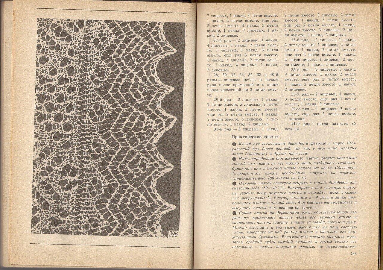 пуховый платок схема вязания