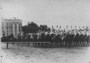Кирасиры во время парада  полка.