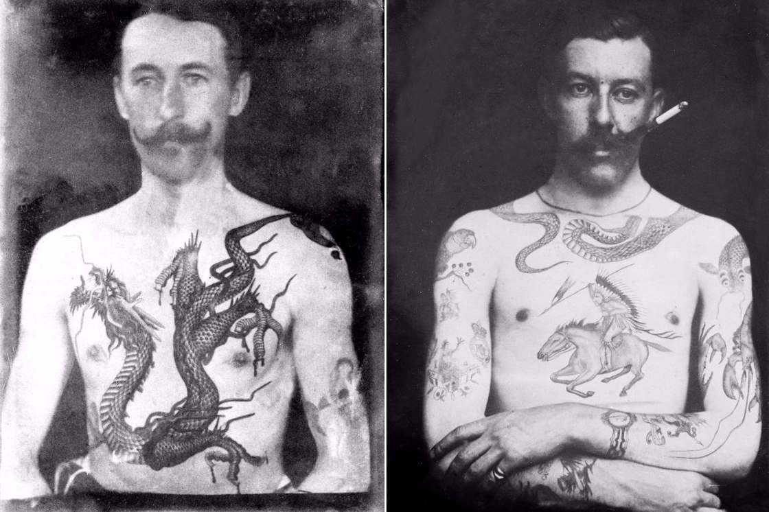 History of Tattoos – The tattoos of the first British artist in 1889 (11 pics)