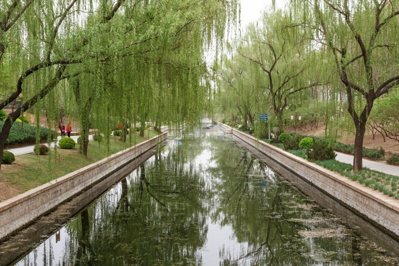 Канал, парк стены династии Юань, Пекин