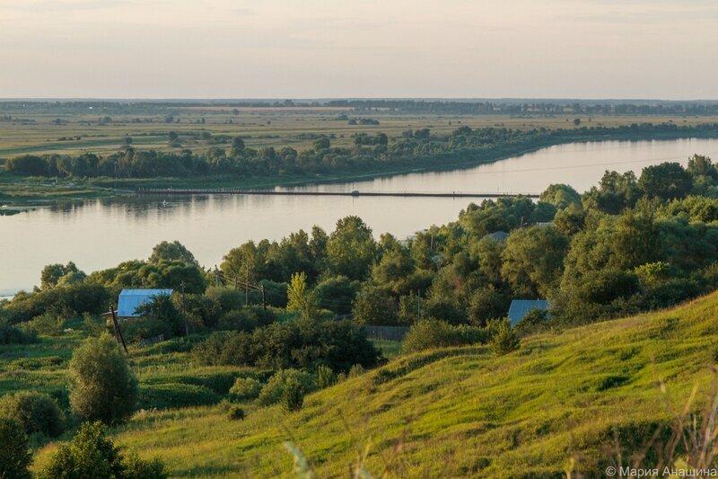 Ока и Старорязанский понтонный мост
