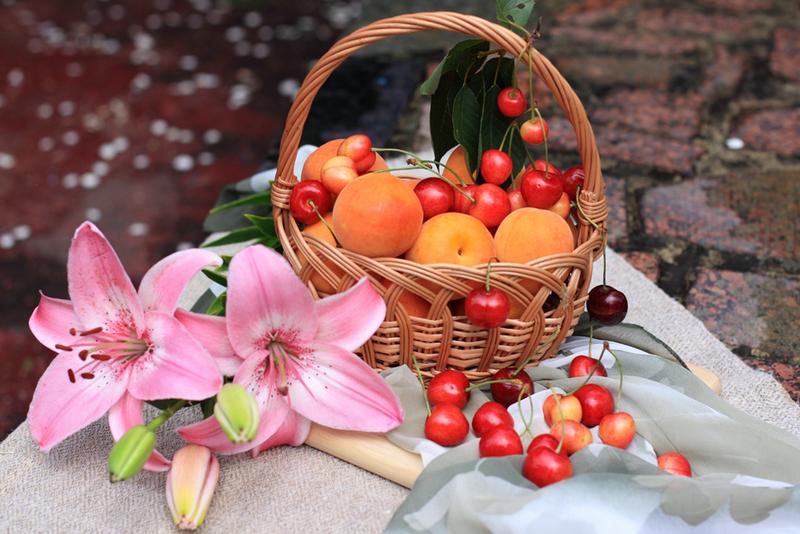 фрукты цветы