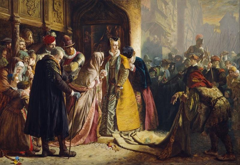 Драммонд (1816 - 1877) (шотландский) Возвращение Марии Стюарт в Эдинбург