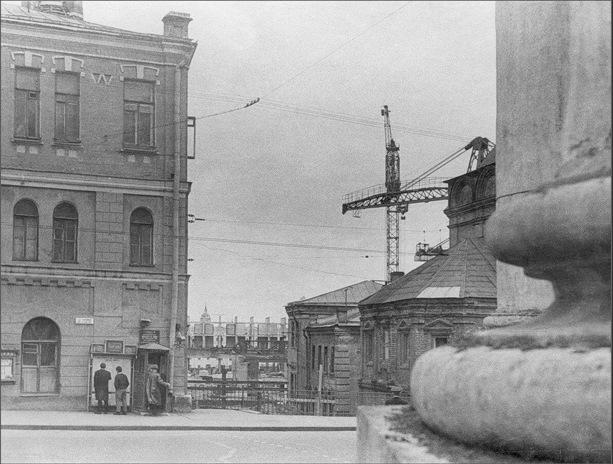1950-е. Строительство гостиницы Россия
