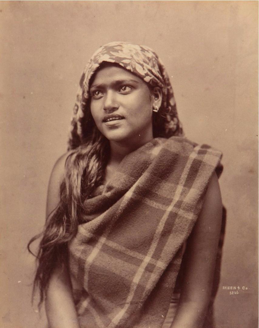 Портрет женщины в платке,  1875