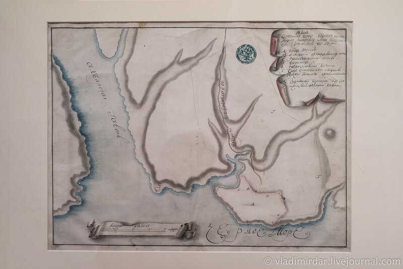 План древнего города Херсонеса. 1786 г.