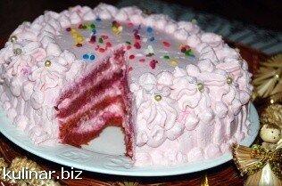 """Торт """"Розовый фламинго"""""""