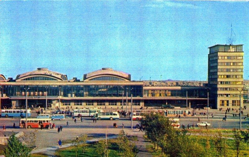 Челябинск. Вокзал. фото Б. Погорелого, 1974 год.