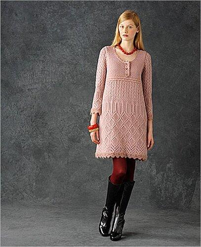 свой цитатник или сообщество!  Вязание спицами - платье.