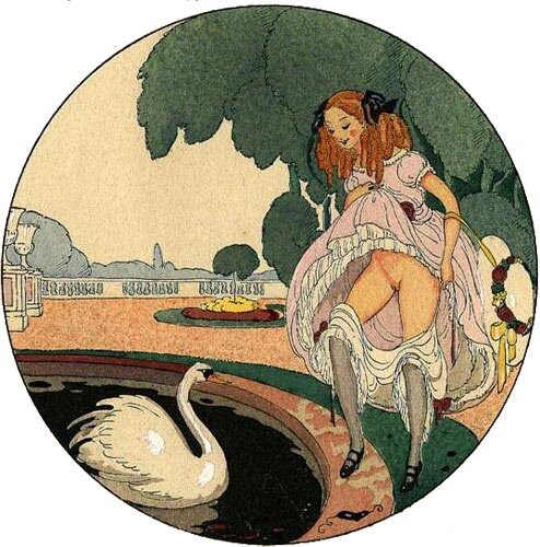 Leda and the Swan by Gerda Wegener
