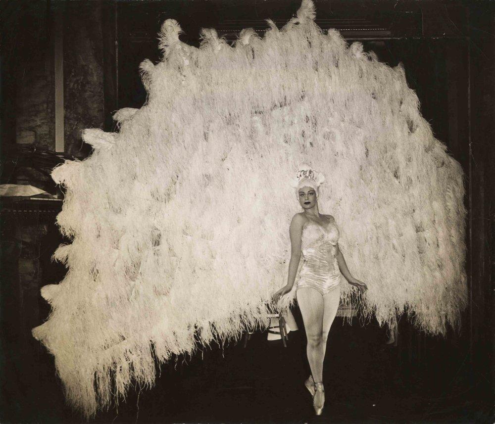 Marina Franca in her peacock costume, April 18, 1941