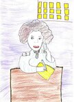 "Шведа Кирилл (рук. Стульнева Зинаида Александровна) - Рисунок ""Моя бабушка-на страже порядка"""