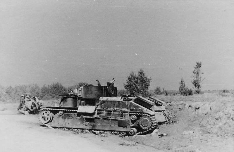 Танк Т-28э из 1-го мк потерянный в р-не с. Карамышево Псковской обл.