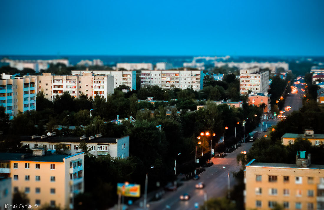 Игрушечный город, Тверь, фото, Тилт-шифт эффект, tilt-shift