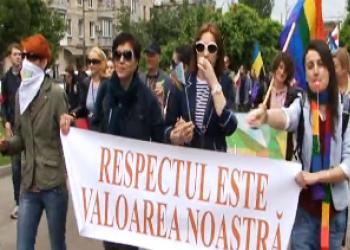 Сексуальные меньшинства освистали во время марша в Кишинёве