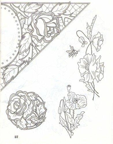 Вышивка ришелье руками схемы шаблоны 6