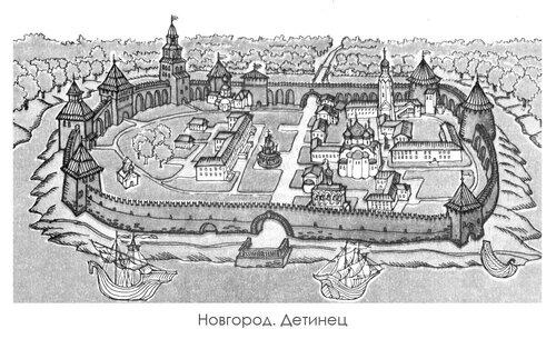 Новгород Детинец, панорама