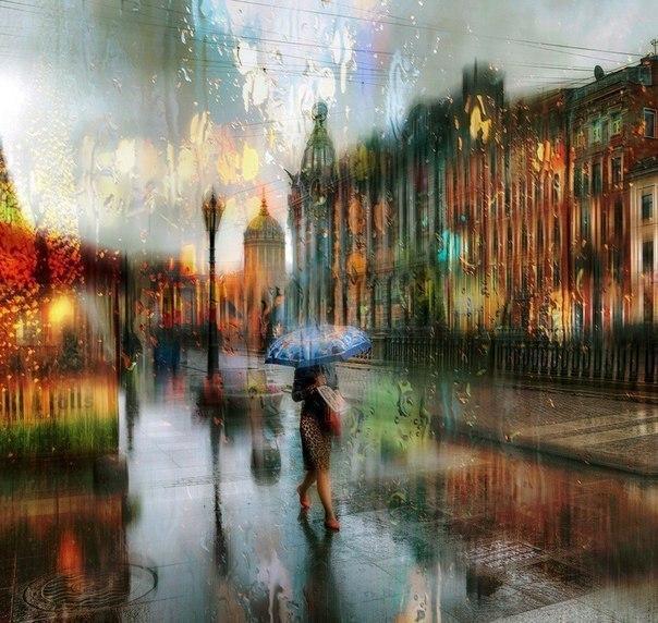 дождь город петербург 3