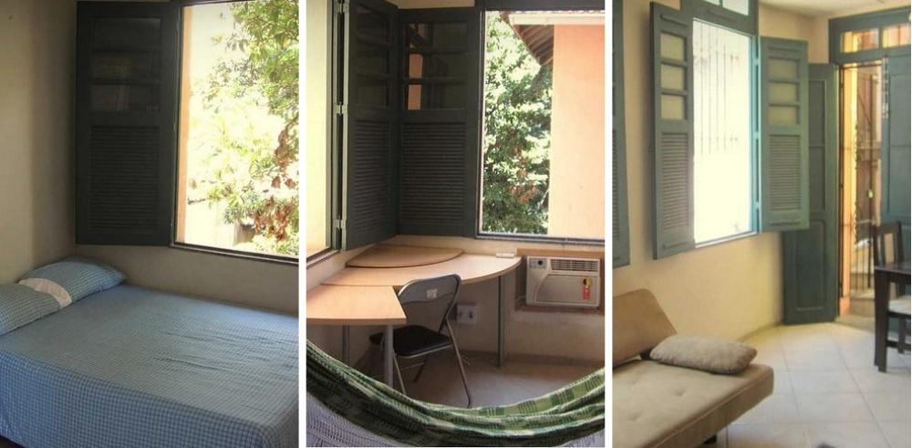Место: Санта Тереза. 2 спальные комнаты, 1 ванная, гамак. Район творческих людей.