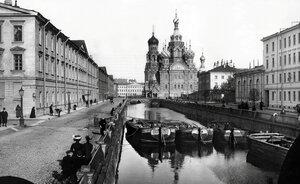 Екатерининский канал. Вид на собор Воскресения Христова. 1913