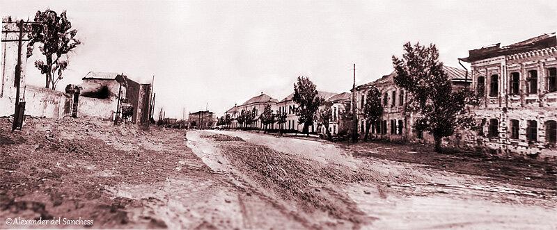 Улица Чичерина, 1930-е, фотореконструкция, Белгород. http://sanchess-city31.livejournal.com