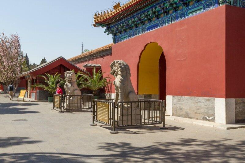 Каменные львы, парк Чжуншань гунъюань, Пекин